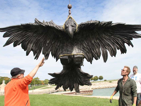Eagle's First Public Appearance at Activate Chicago with Sculpture