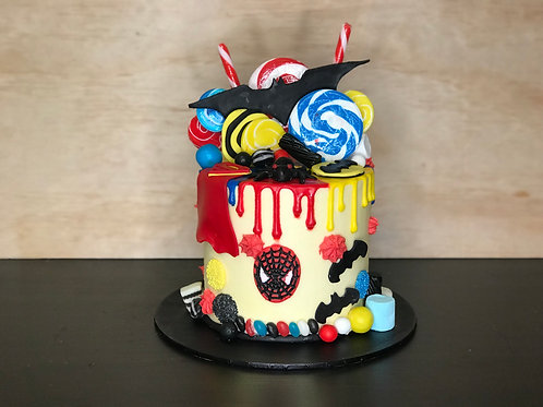SUPERHERO Candy Coma Cake