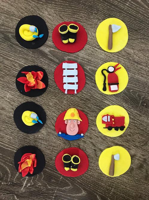 Fireman Sam Cupcake Toppers