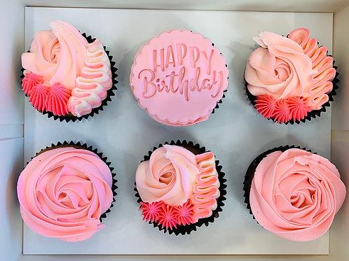Happy Birthday box of 6