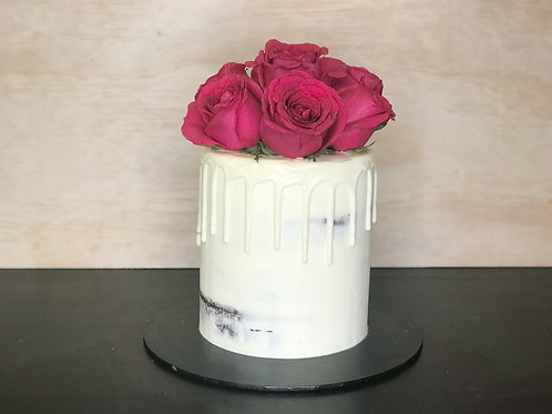 White with Roses