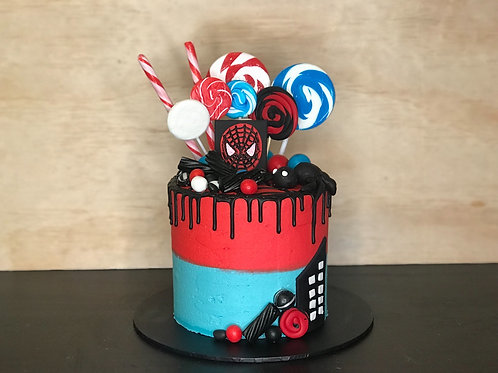 SPIDERMAN Candy Coma Cake