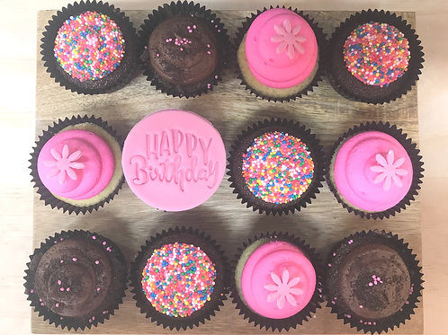 KIDS HAPPY BIRTHDAY CUPCAKES Pink