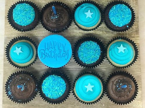 KIDS HAPPY BIRTHDAY CUPCAKES Blue