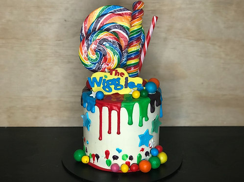 WIGGLES Candy Coma Cake