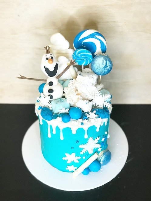 FROZEN Candy Coma Cake