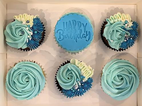 Happy Birthday Blue box of 6