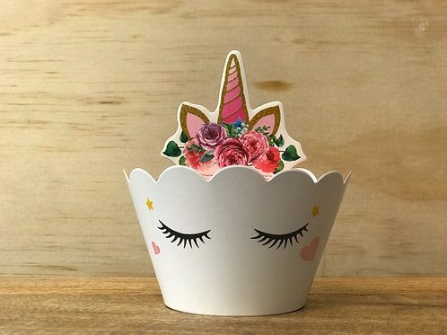 Unicorn Cups and Topper