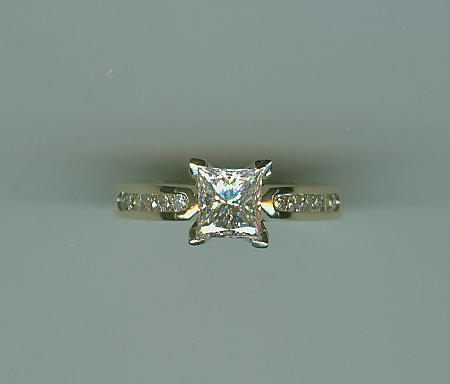 Princess cut with rounds