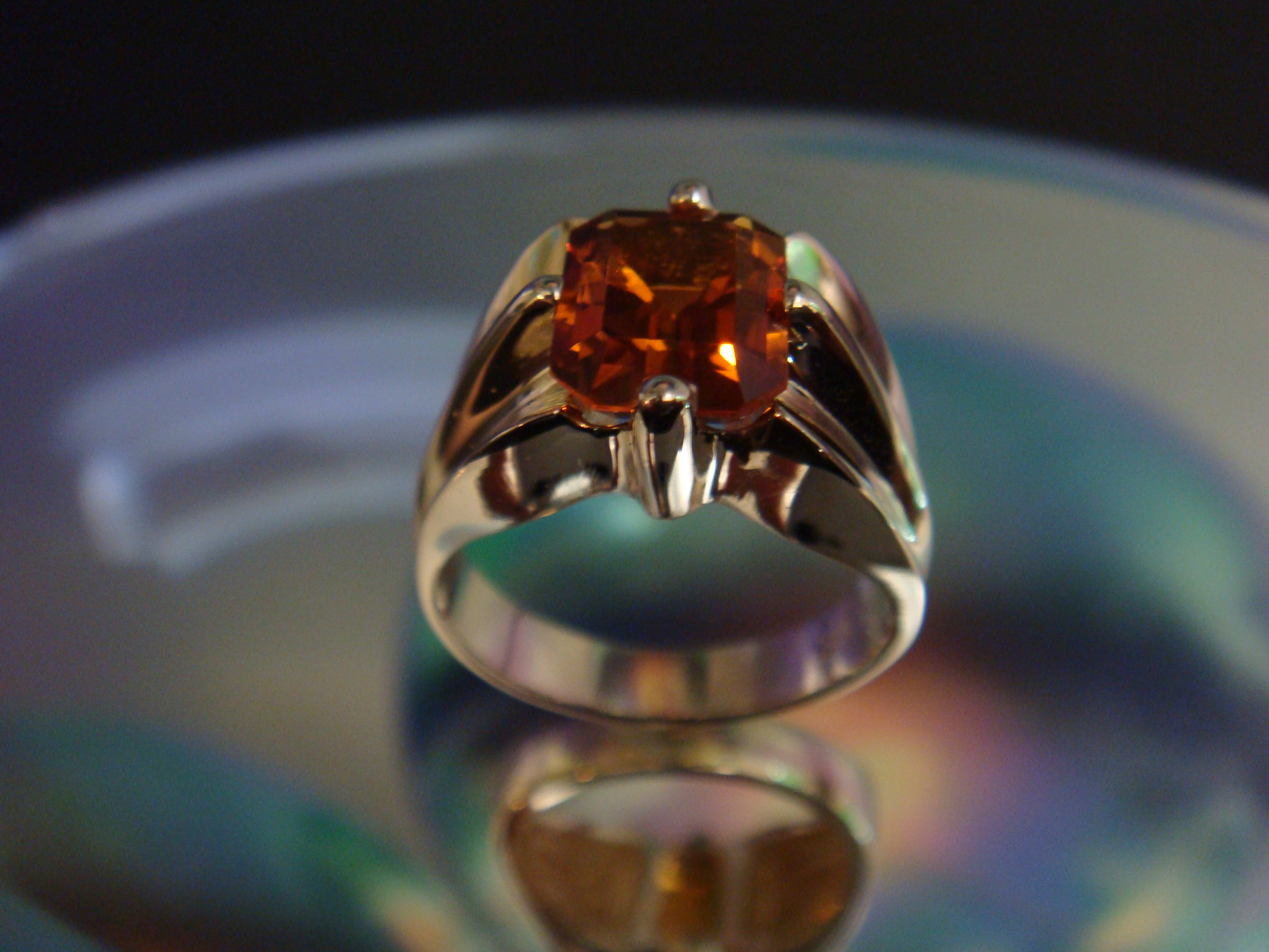 Citrine in Yellow Gold