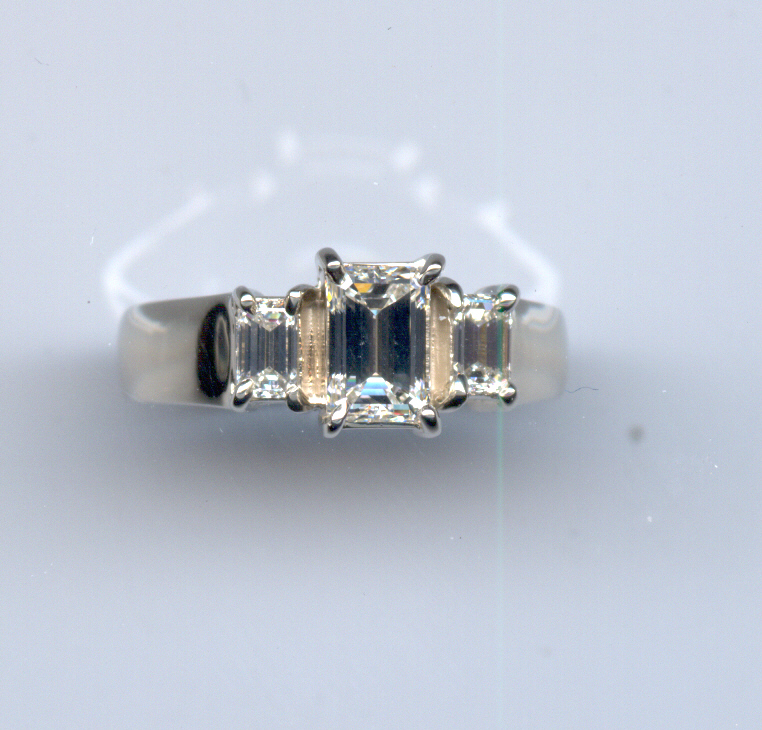 3 Emerald Cut Diamonds
