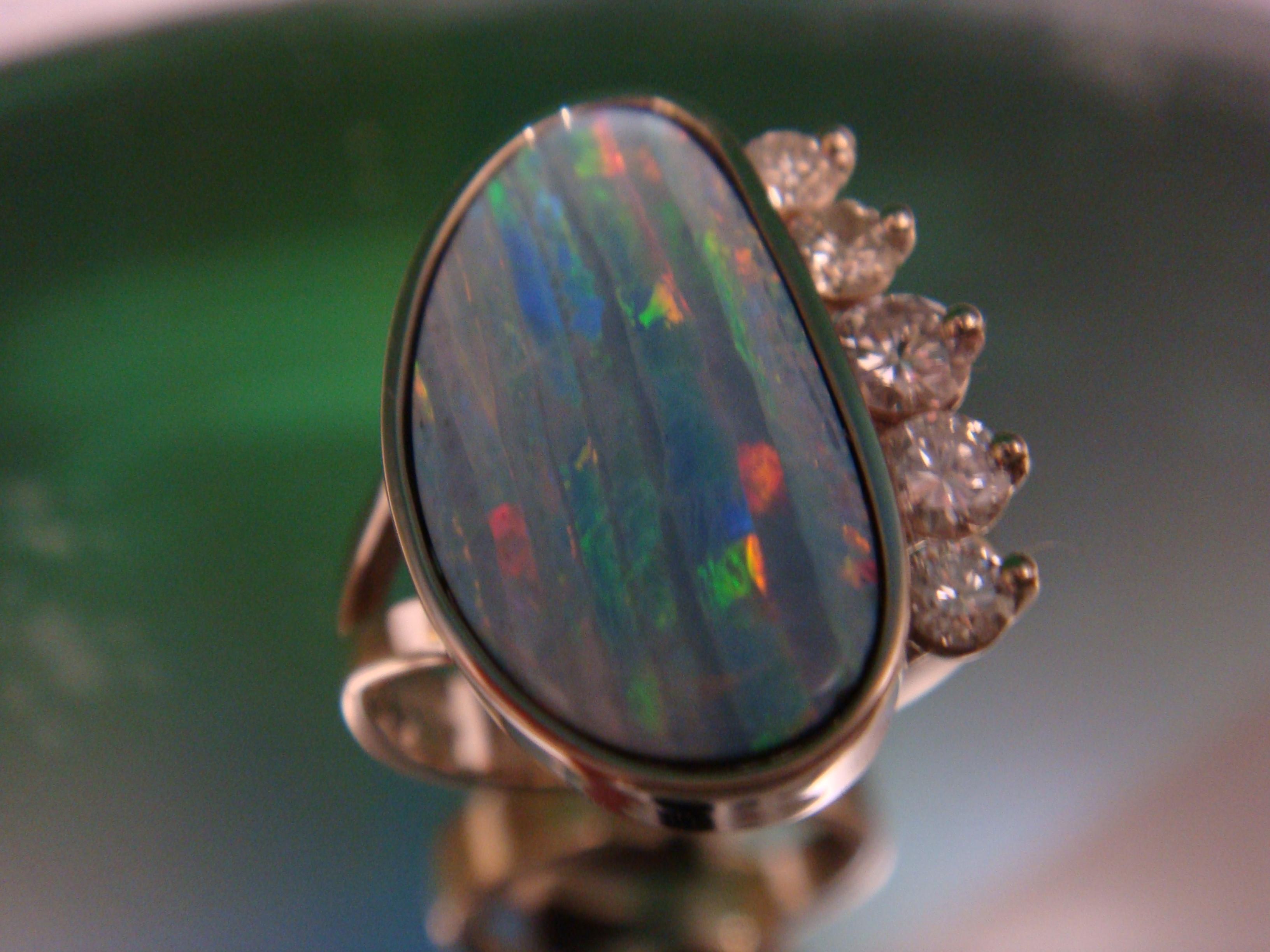 Beautiful opal and diamonds