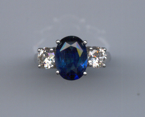 Classic blue sapphire and diamonds