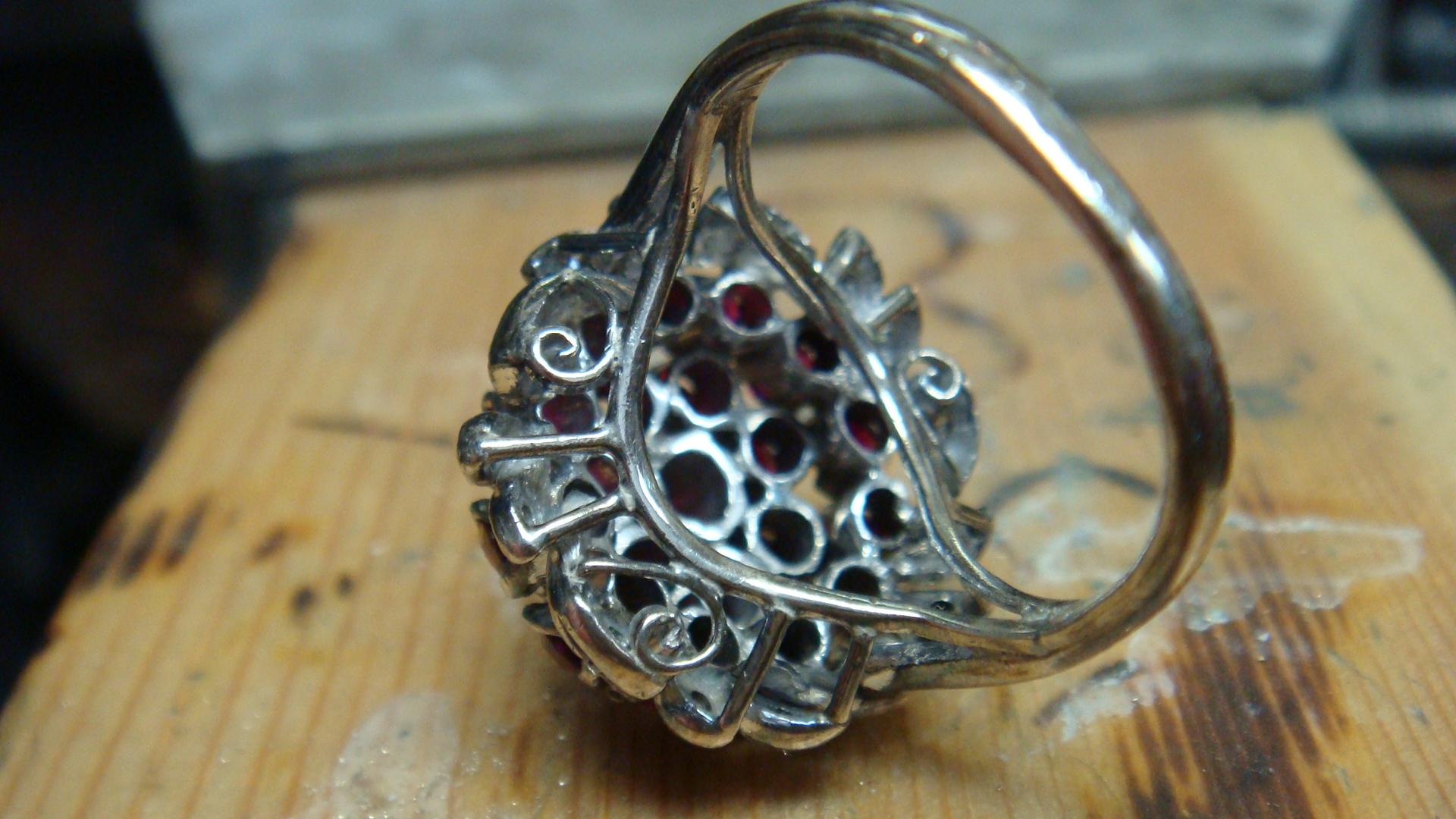 Grandma's ruby cluster ring bottom