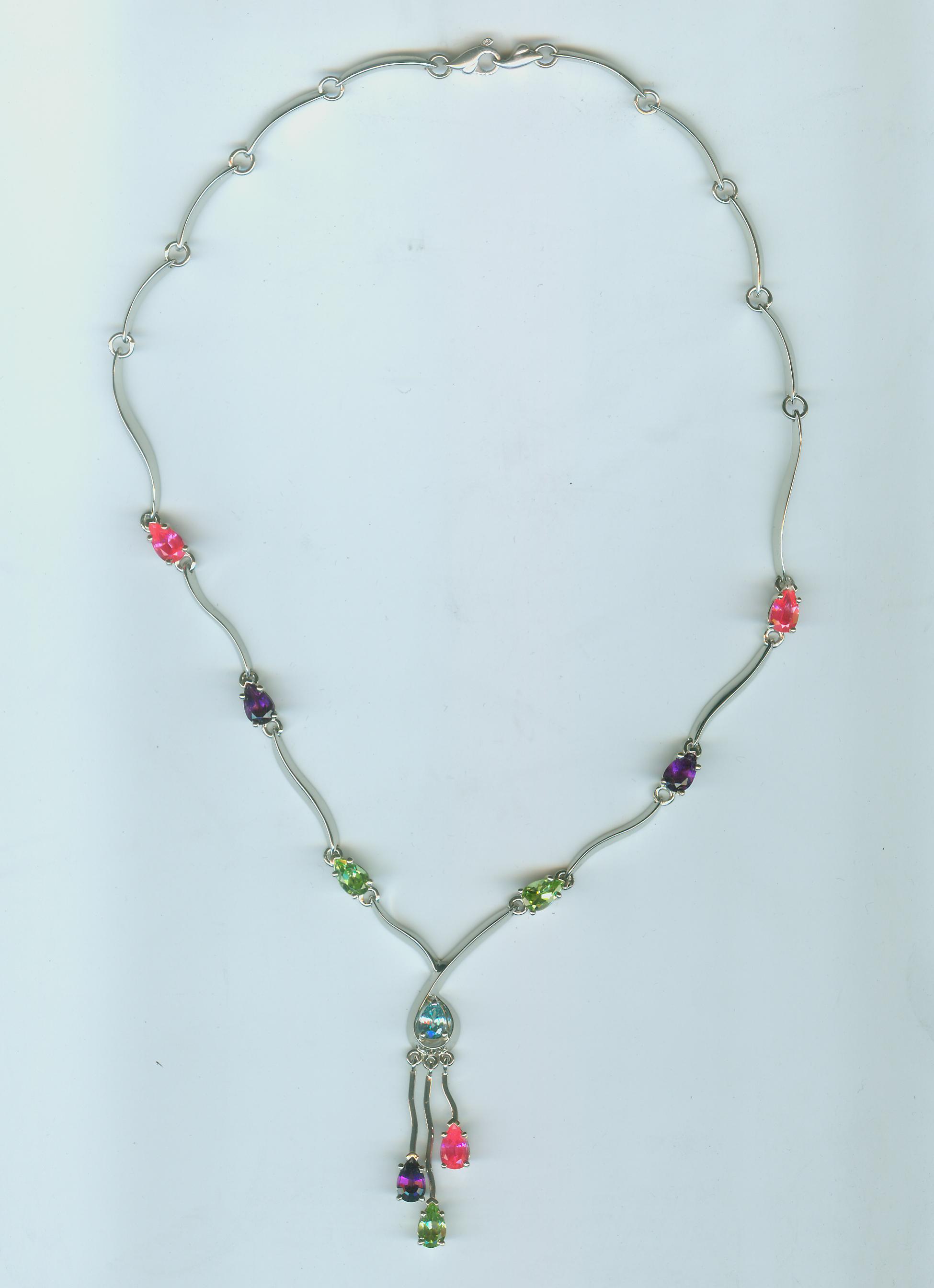 Multi stone pendant