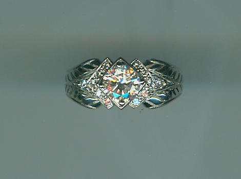 White gold diamond beauty
