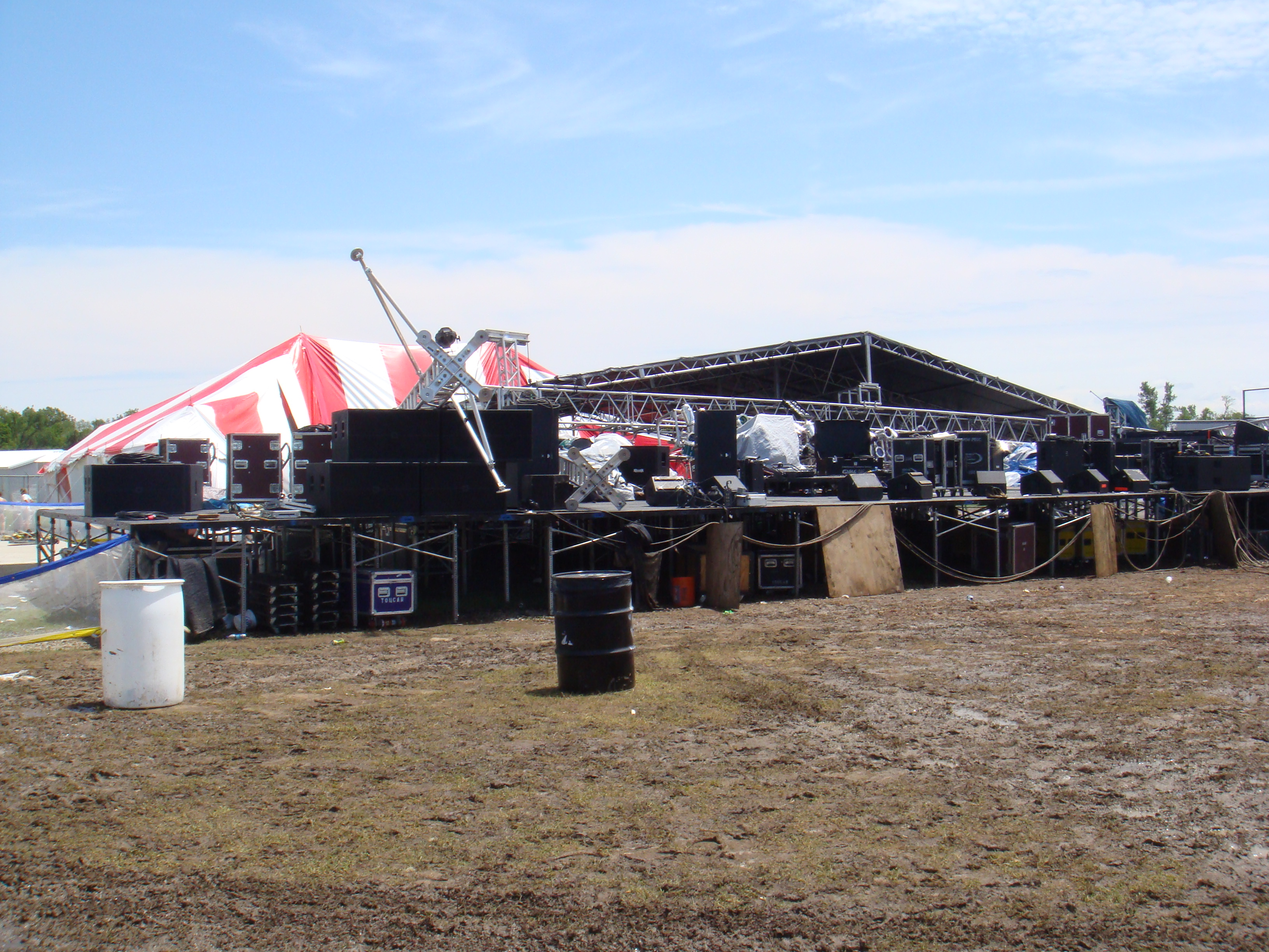 Rocklahoma South Stage flattened