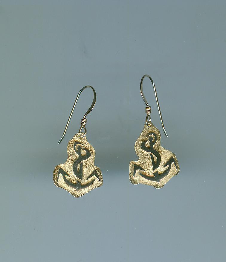 Anchor logo earrings
