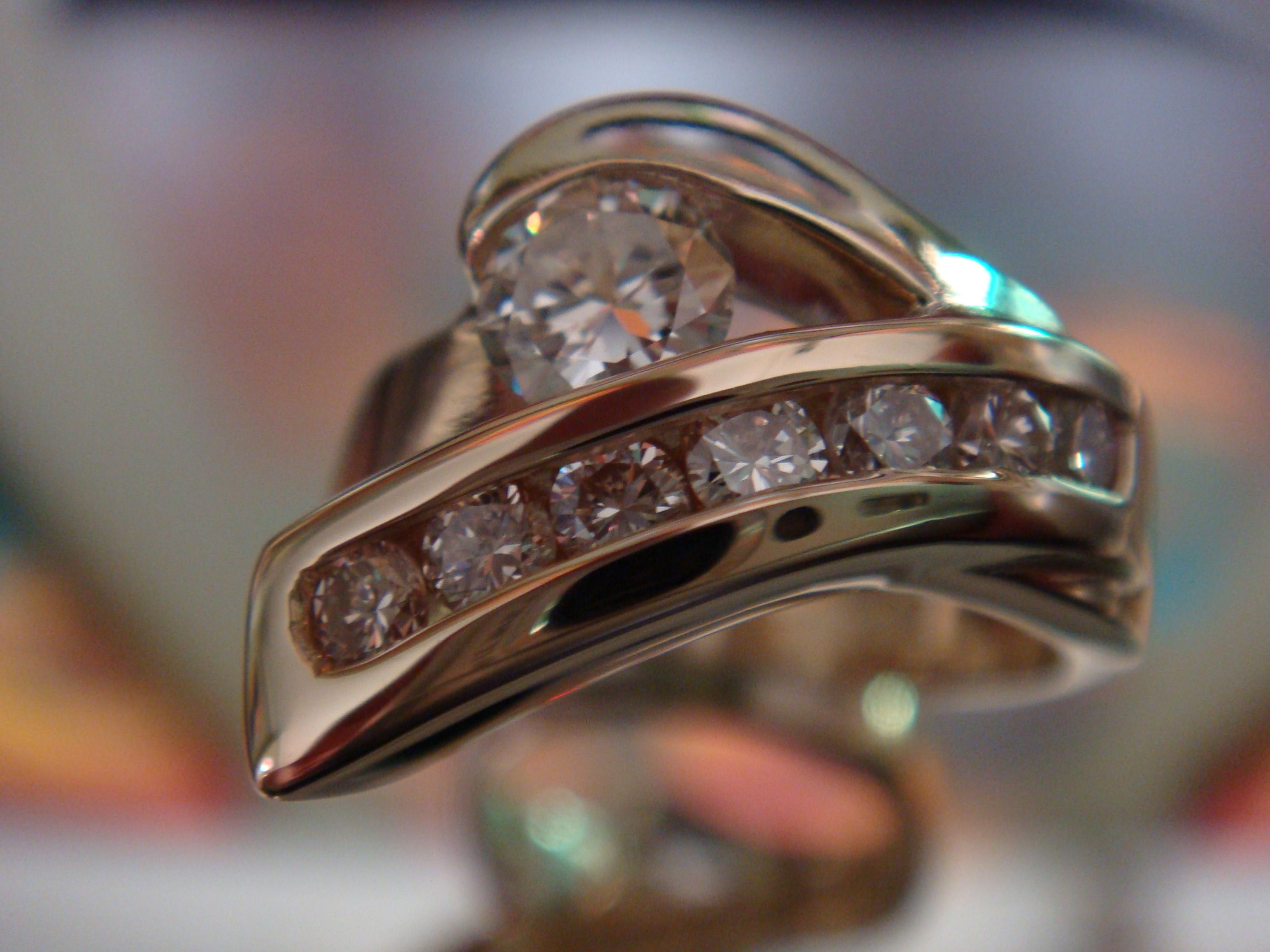 Two-tone with diamonds