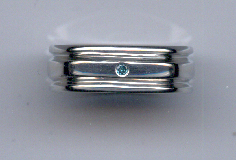Gents  Band... Blue Diamond Accent