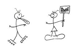 Roller Blader vs. Chemistry Teacher