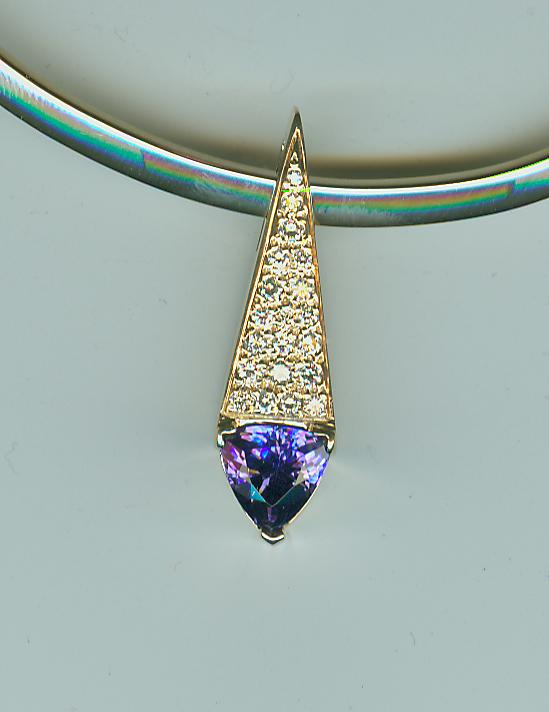 Trillian tanzanite & diamond pendant