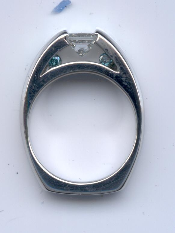 Blue Diamond Accents