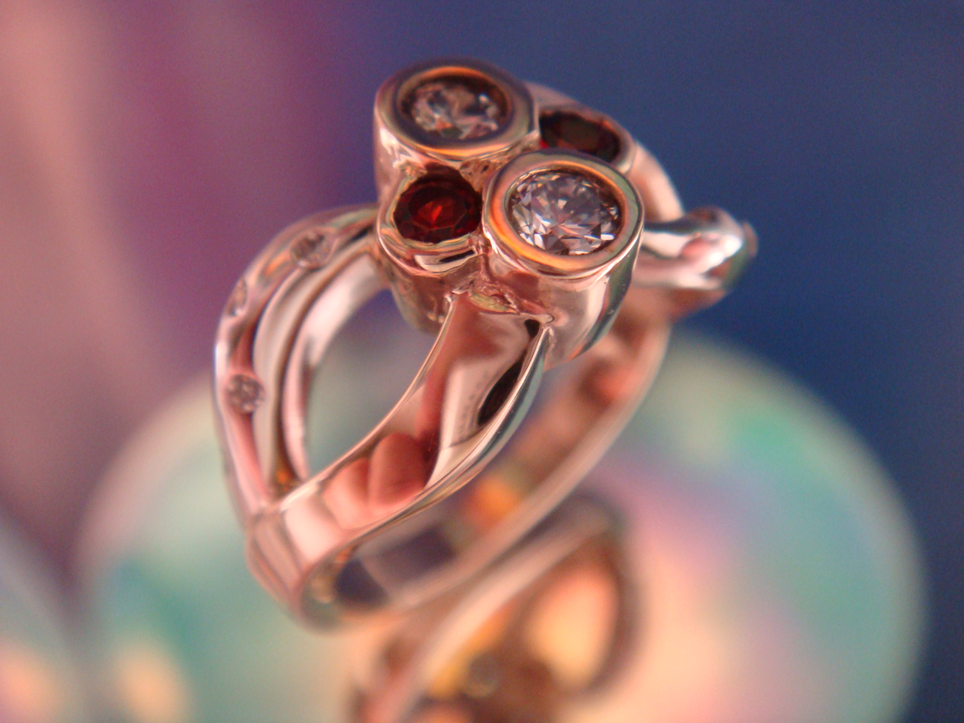Garnets and diamonds