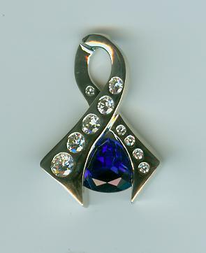 Matching sapphire pendant