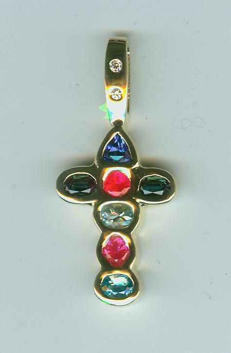 Multi-stone Cross