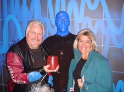 The man was blue