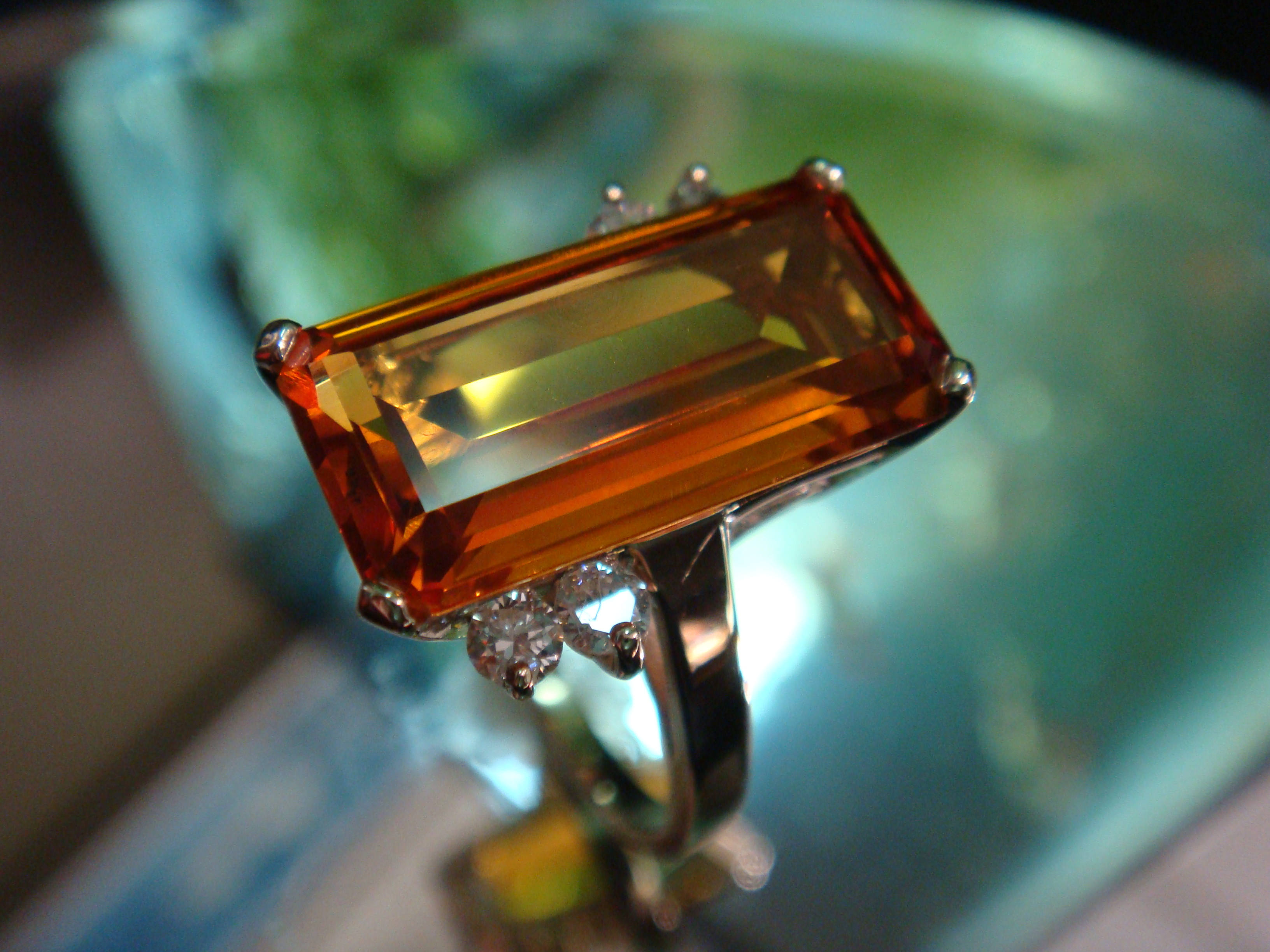 Citrine and diamonds