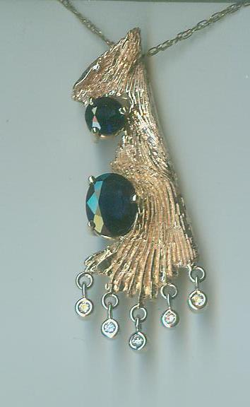 Sapphire jubilee pendant