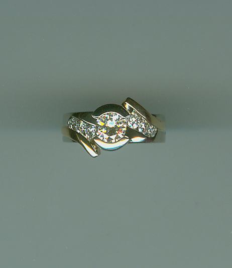 Beautiful bypass ring
