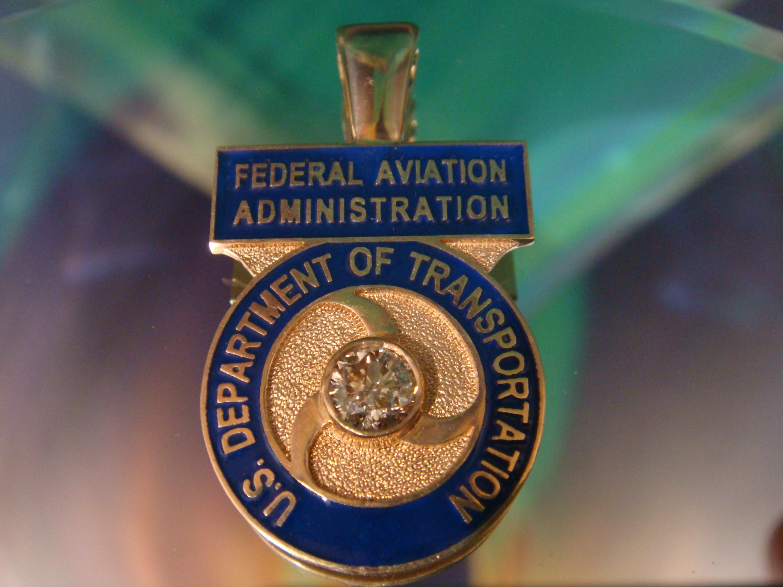 FAA medal.. 14K & diamond