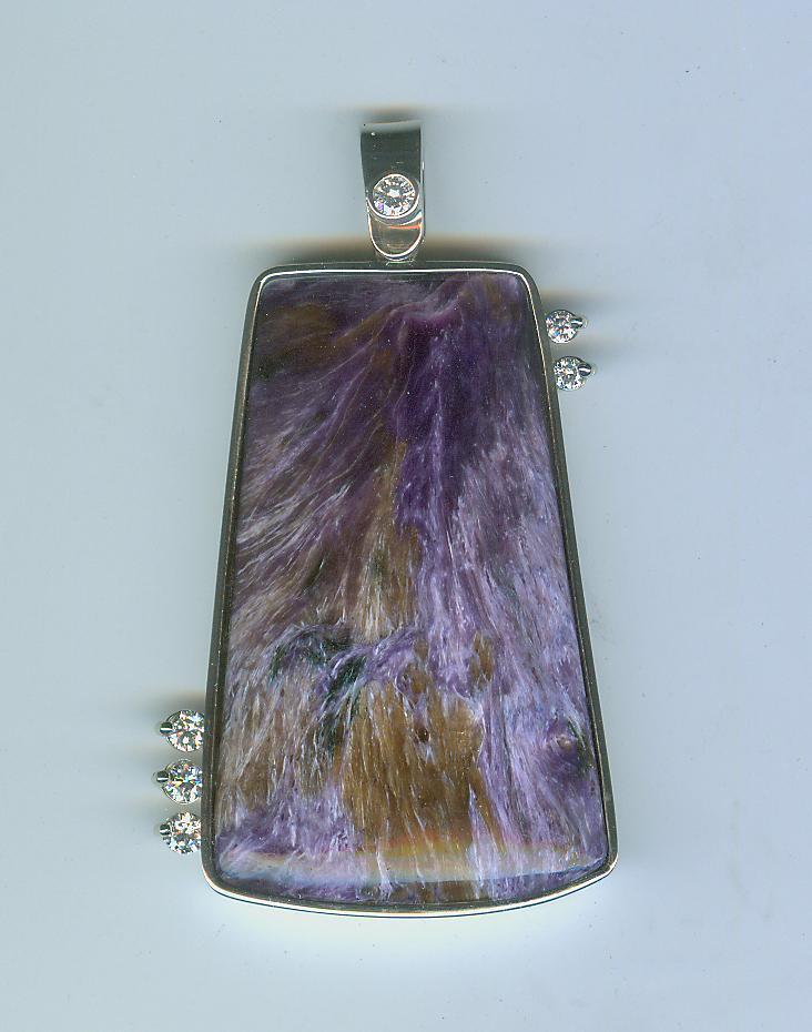 Charolite pendant
