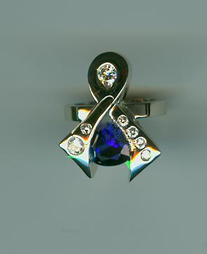 Sapphire ribbon ring