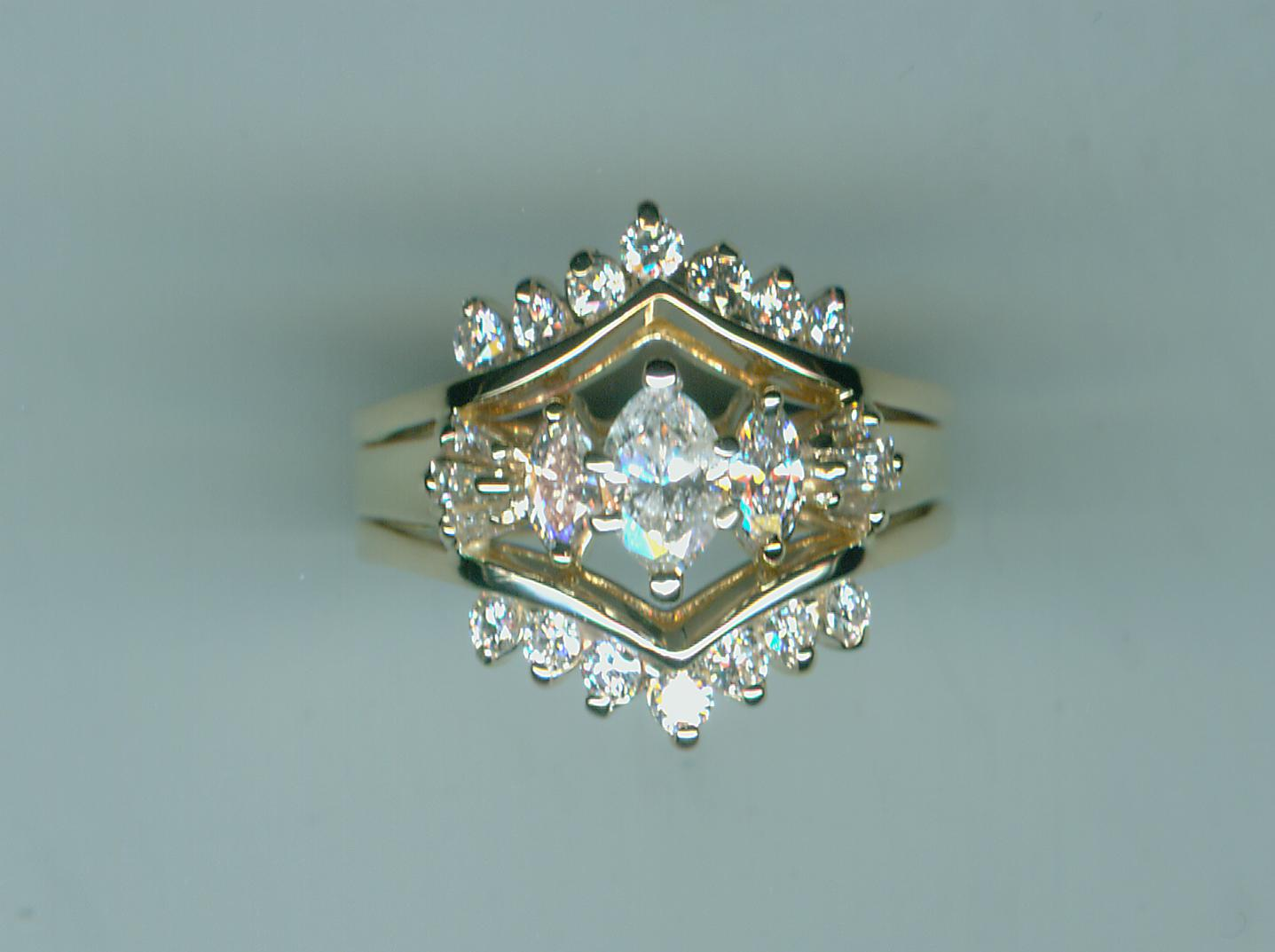 Pretty diamond insert