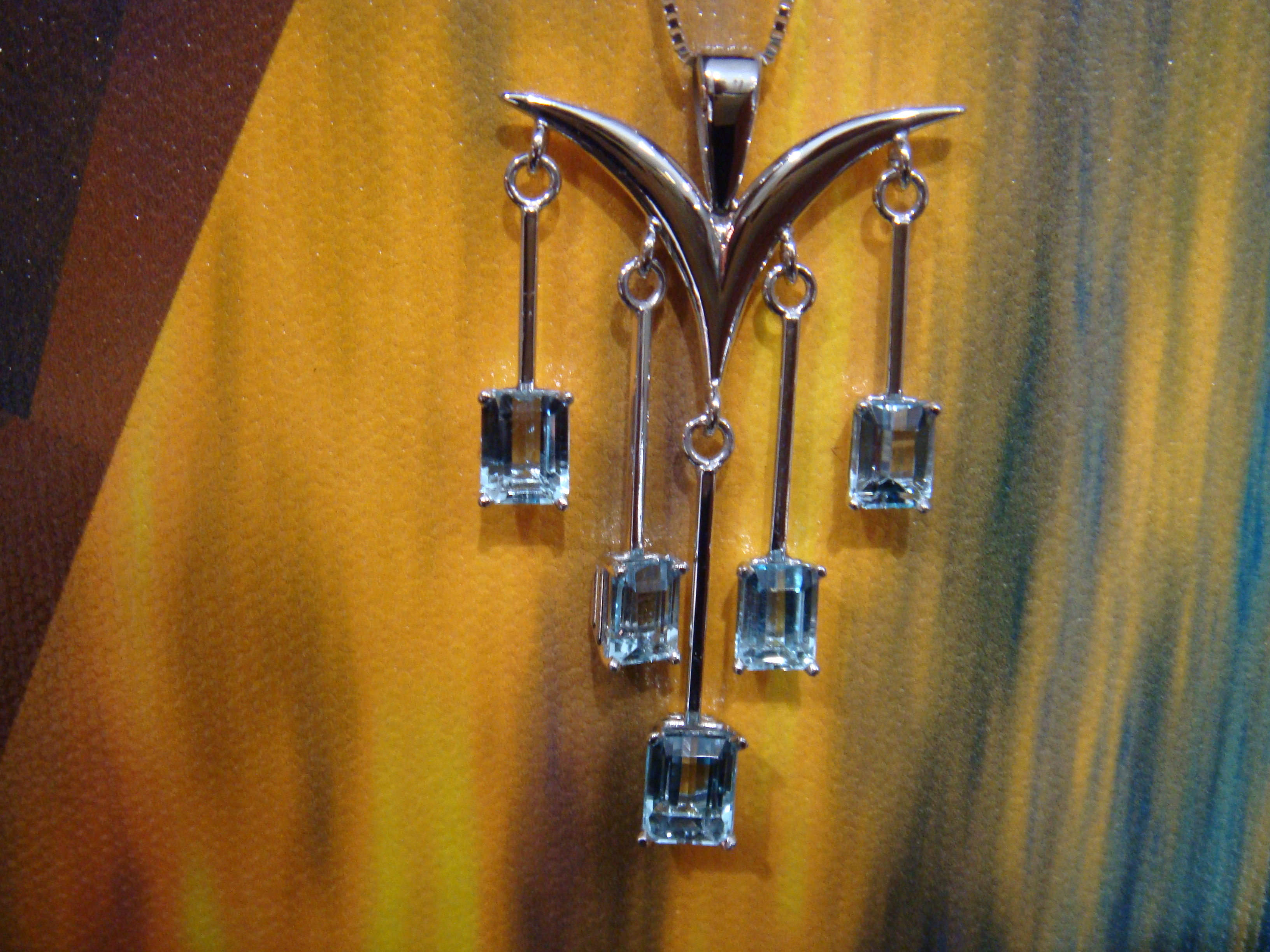 Blue topaz dangle pendant