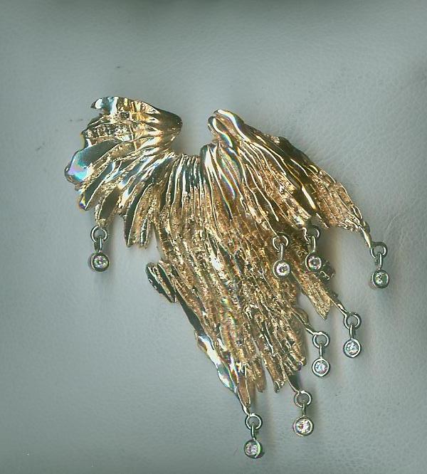 Angel wing jubilee pendant