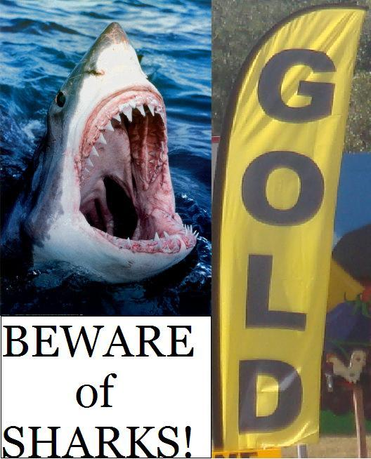 Beware of sharks!