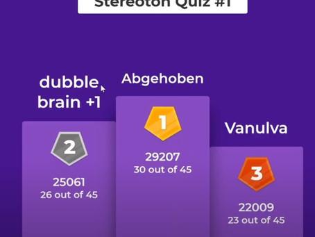 Hier die Gewinner unseres Kahoot-Quizgames