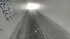 """""""Foto """"Umweltsünden"""" zeigt die Bahnunterführung Hauptstraße in Neusäß."""""""