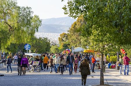 The Apostolou Pavlou Promenade, Athens, Greece