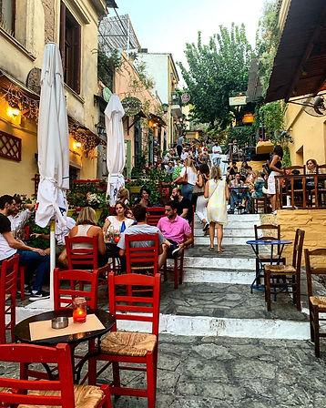 Plaka Stairs, Athens, Greece