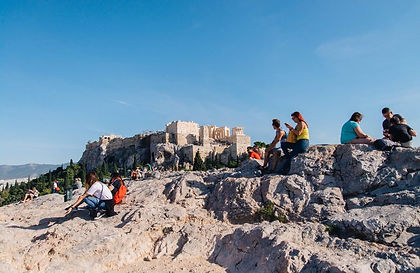 Areopagus Hill, Athens, Greece