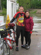 L4 - Cyclists ride the Modoc Ferry to St