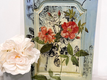 Another Cabinet Door Wall Decor Makeover...