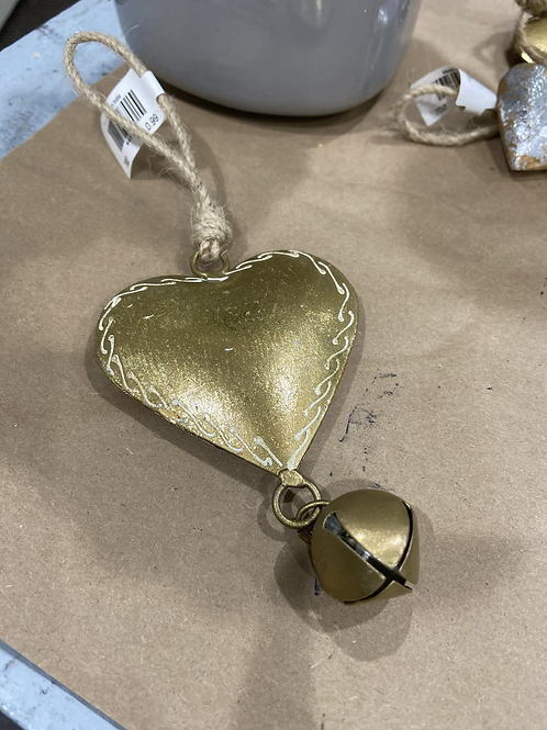 Metal Heart with Bell