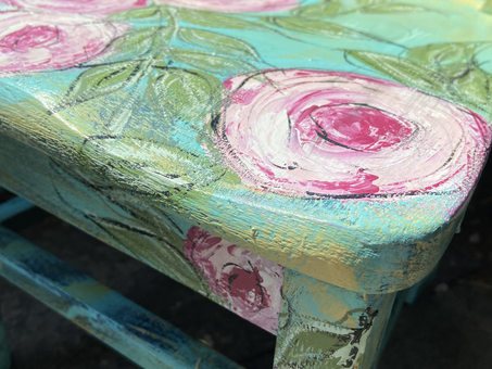 A Chair Fit for a Princess: Painting Roses